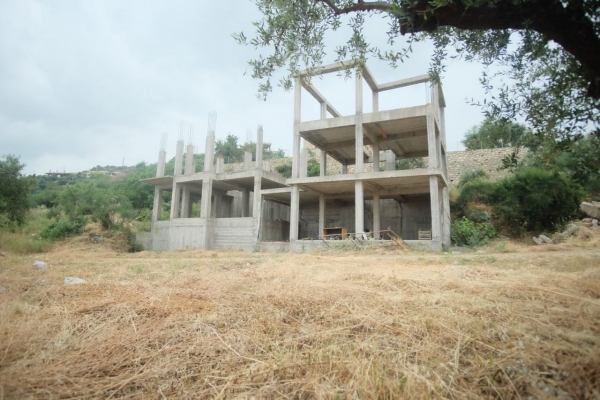 Concrete shell for two 100 sq m houses, near Stoupa. €70,000 each